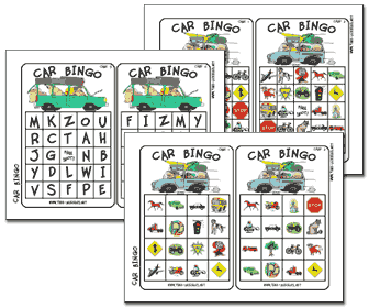 travel games 4 kids has a variety of kids printable games which include car bingo