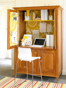 Armoire turned Office