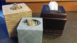 garbage bags in kleenex box