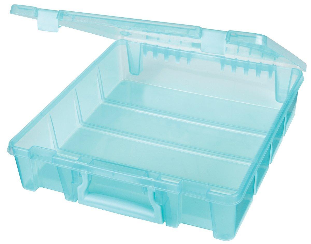 Artbin 6955aa Super Satchel 1 Compartment Aqua Plastic Storage Box