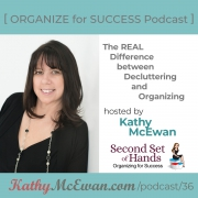 The REAL difference between decluttering and organizing